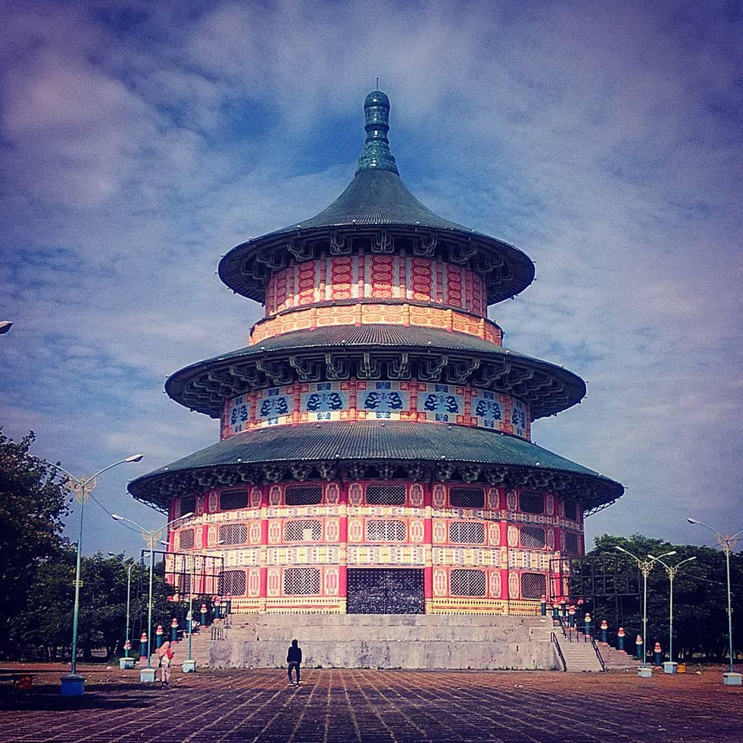 Pagoda Tian Ti Surabaya, Pagoda Tian Ti Kenjeran, Pagoda Tian Ti, Pagoda Surabaya, Dolan Dolen, Dolaners Pagoda Tian Ti Kenjeran via sinta khoi - Dolan Dolen