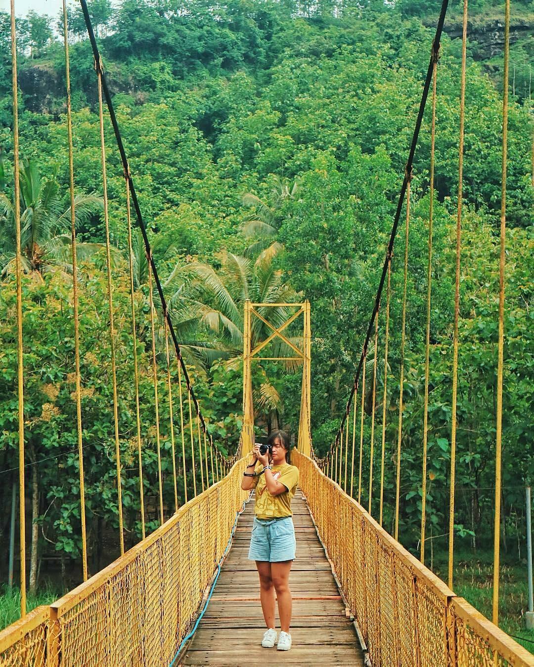 Jembatan Gantung Selopamioro, Jembatan Gantung Selopamioro Yogyakarta, Yogyakarta, Dolan Dolen, Dolaners Jembatan Gantung Selopamioro by sharonlohh - Dolan Dolen
