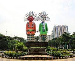 Monumen Ondel-Ondel Kemayoran, Jakarta tugu ondel ondel 245x200 - Dolan Dolen